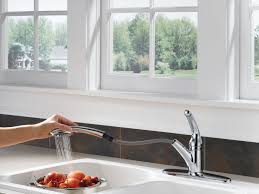 delta pull out kitchen faucet delta cidy kitchen faucet touch