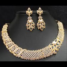 zircon necklace sets images Zircon necklace set jpg