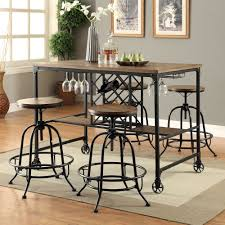 Counter Height Dining Room Table Sets Furniture Of America Daimon Industrial Wine Rack Counter Height