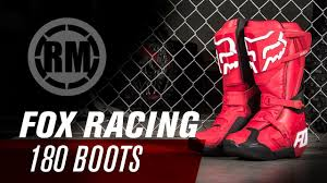 fox boots motocross fox racing 180 motocross boot youtube