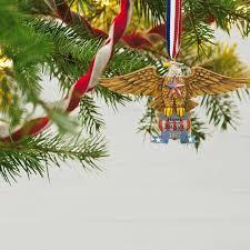 home of the brave patriotic folk art eagle ornament keepsake