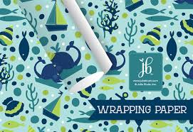 nautical wrapping paper gift wrap for kids birthday birthday whale nautical childrens