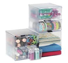 Stackable Desk Organizer Deflecto Stackable Divided Cube Organizer Desk And