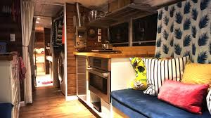 alpha tiny house tiny house bus conversion take a tour youtube