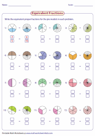writing equivalent fractions using pie model u2026 pinteres u2026