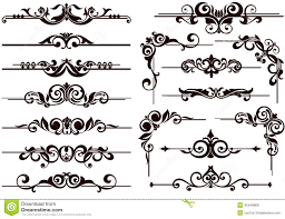 vector ornaments frames corners borders stock vector