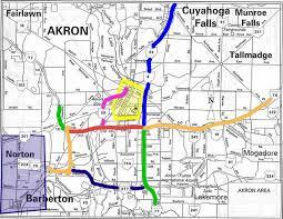 of akron map akron roadtrip