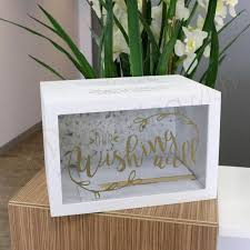 wishing box wedding wedding gold wishing well timber box with clear front wedding wish