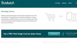 templates for website design free contract templates for web designers