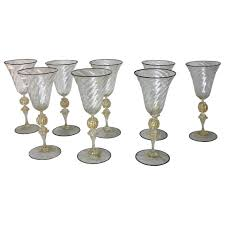 Wine Goblets Large Antique Venetian Wine Glasses Set Of Eight For Sale At 1stdibs