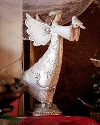 beautiful decorative victorian angel for christmas at walking