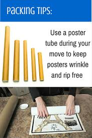 how to pack posters spaces