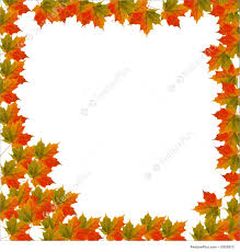 templates thanksgiving leaves bordered background stock