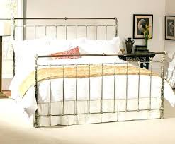 Metal Sleigh Bed Metal Sleigh Bed Iron Brass Sleigh Bed King Vintage White Wrought
