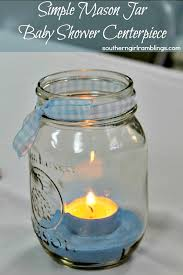 jar centerpieces for baby shower simple jar baby shower centerpiece from s desk