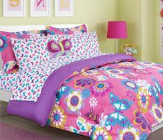 Discount Girls Bedding by Veratex Girls Pink Rainbow Leopard Print Bedding Comforter Set All