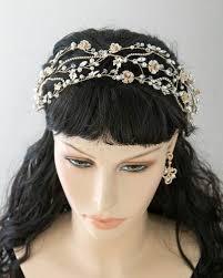 gold headpiece woven wedding headpiece in light gold lynne