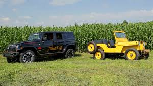 cj jeep wrangler farming with a 1951 willys cj 3a and 2013 jeep wrangler unlimited