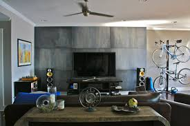 Accent Wall For Living Room by Faux Mill Steel Accent Wall Contemporary Living Room