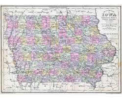 iowa map with cities maps of iowa state collection of detailed maps of iowa state