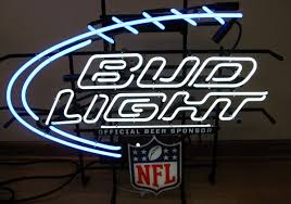 bud light lighted sign details about nfl bud light footbal neon sign neon signs