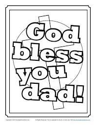 god bless dad coloring children u0027s bible activities