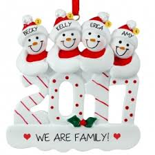 2017 four snowmen ornament personalized ornaments for you