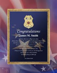 academy graduation gift sheriff and academy graduation gift plaque enforcement