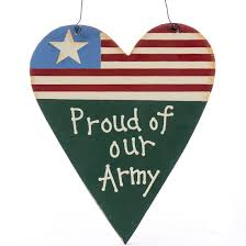 proud of our army wood ornament sign signs ornaments