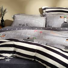 Cheap King Size Bedding Online Get Cheap King Size Black And White Striped Bedding