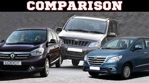 renault lodgy renault lodgy vs toyota innova vs mahindra xylo comparison youtube