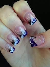 valentine glitter acrylic nail designs purple glitter acrylic