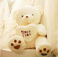 big teddy valentines day shop stuffed plus animals online 70cm white size