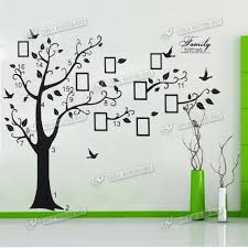 Bedroom Wall Stickers Uk Wall Quote Family Tree Photo Frame Wall Sticker Art Home Decal Uk
