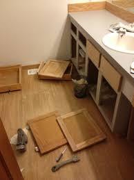 Wood Bathroom Vanity by Refinishing A Wood Bathroom Vanity Part 2 Scraping And Sanding