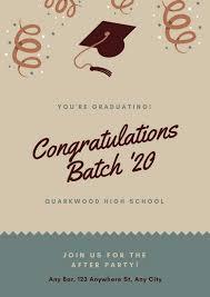 congratulation poster graduation poster templates canva
