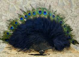 peacock feather fan 57 best feather fans images on peacock feathers