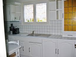 cuisine repeinte en blanc photos de cuisine repeinte une cuisine de style bistrot with