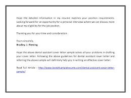 dental assistant cover letter sample pdf