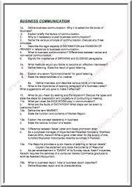 Define Business Letter by B Com U2013 Business Communication Important Questions