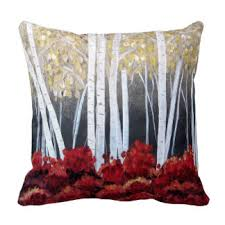 Birch Tree Decor Birch Tree Pillows Decorative U0026 Throw Pillows Zazzle