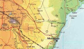 geographical map of kenya maps kenya geographical map
