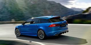 blue station wagon jaguar might build a crazy svr tuned xf station wagon