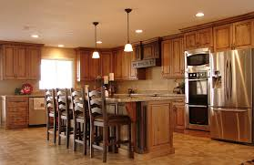 Dark Cherry Wood Kitchen Cabinets by Excellent Rustic Cherry Kitchen Cabinets Rustic Hickory Kitchen