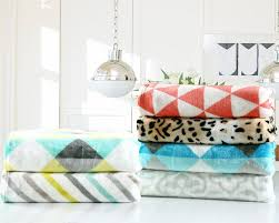 Fleece Throws For Sofas Geometric Flannel Fleece Blanket 200x220cm 220x240cm For Sofa And