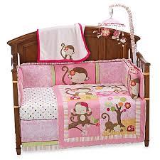 kidsline miss monkey crib bedding u0026 accessories buybuy baby