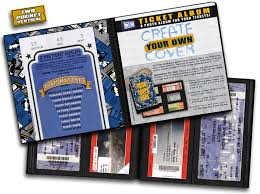 ticket stub album create your own cover ticket album a photo album designed to