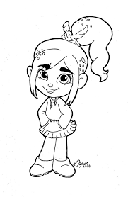 coloring download wreck it ralph vanellope coloring pages wreck