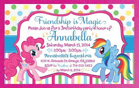 Mlp Birthday Card My Little Pony Birthday Invitations Template Resume Builder