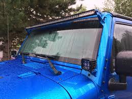 jeep light bar mount 07 16 jk 50 u0027 u0027 windshield light bar brackets